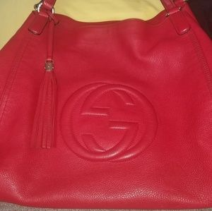 Red Gucci hobo